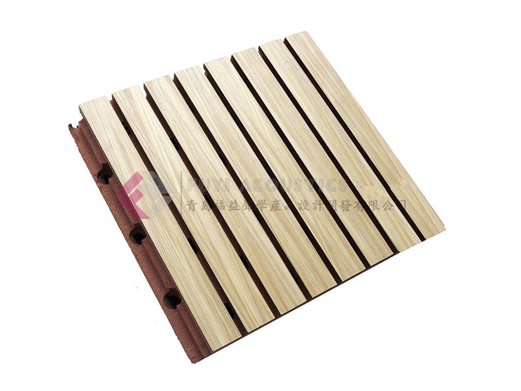 Wood acoustic panel