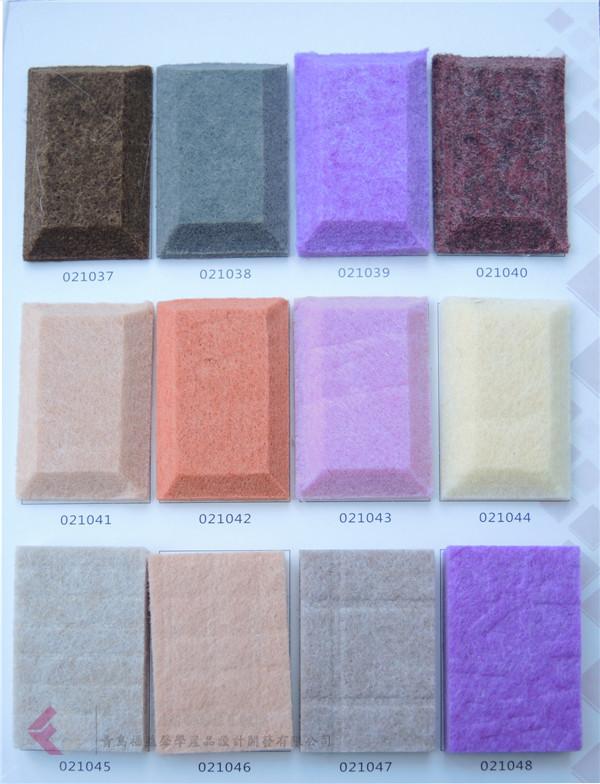 多色彩9mm厚聚酯降噪纤维板